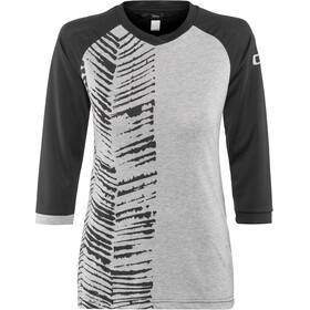ION Scrub AMP Longsleeve Shirt 3/4 rits Dames, grey melange